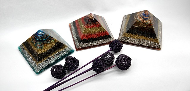 orgonite pyramids and pendants